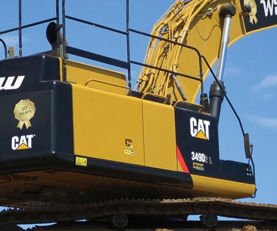 construction machinery excavator signage