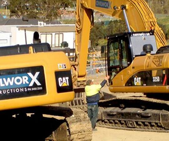 excavator signs